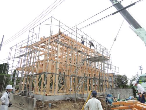 須賀様邸建て方001